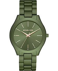 Women's Slim Runway Olive Aluminum Bracelet Watch 42mm