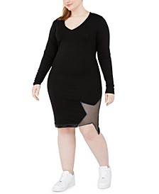 Trendy Plus Size Star Bodycon Dress