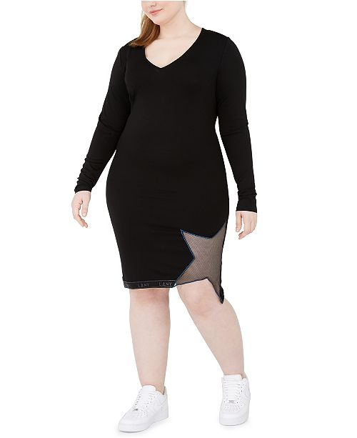 Lala Anthony Trendy Plus Size Star Bodycon Dress