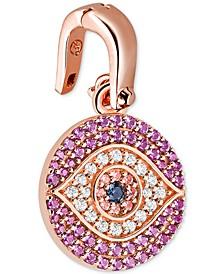 Women's Custom Kors 14K Gold-Plated Sterling Silver Evil Eye Charm