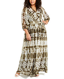 Calvin Klein Plus Size Tie-Dyed Maxi Dress