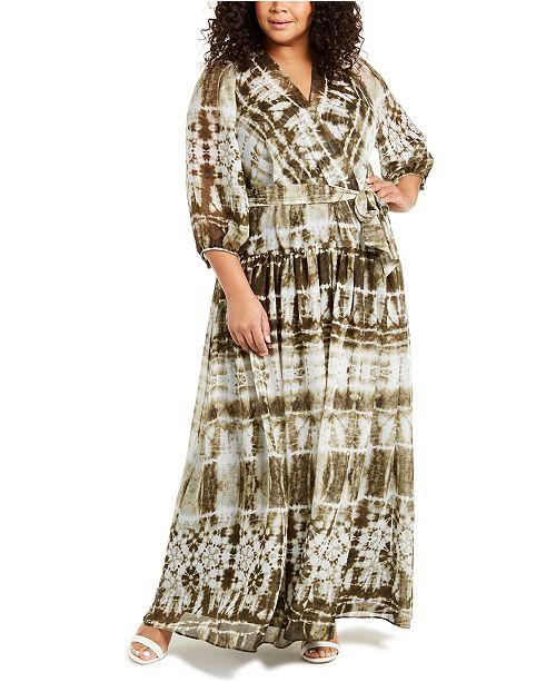 Calvin Klein Plus Size Tie-Dyed Maxi Dress