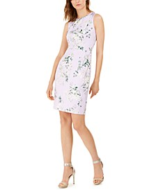 Floral-Print Scuba Sheath Dress
