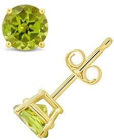 Peridot (1 ct. t.w.) Stud Earrings in 14K White or Yellow Gold