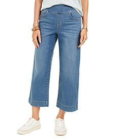 Wide-Leg Cropped Jeans, Created for Macy's