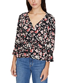 Windswept Floral-Print Top