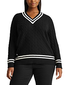 Plus-Size Cotton Cricket Sweater