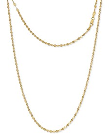 "Disco Link 18"" Chain Necklace in 24k Gold-Plated Sterling Silver, Created for Macy's"