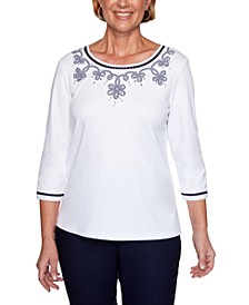 Easy Street Studded Lattice-Trim Top
