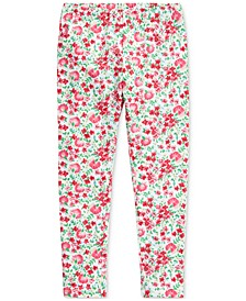 Toddler Girls Floral Stretch Jersey Leggings