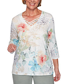 Alfred Dunner Chesapeake Bay Printed Knit Top