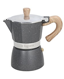 Wood and Stone Style 6 Cup Coffee Maker