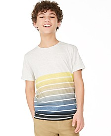Big Boys Ombré Stripe T-Shirt, Created for Macy's