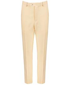 Big Boys Classic-Fit Yellow Linen Suit Pants