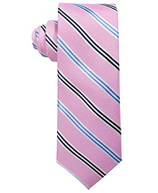 Big Boys Pink Stripe Silk Tie