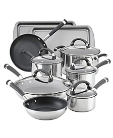 Espree Stainless Steel Nonstick 14-Pc. Cookware Set