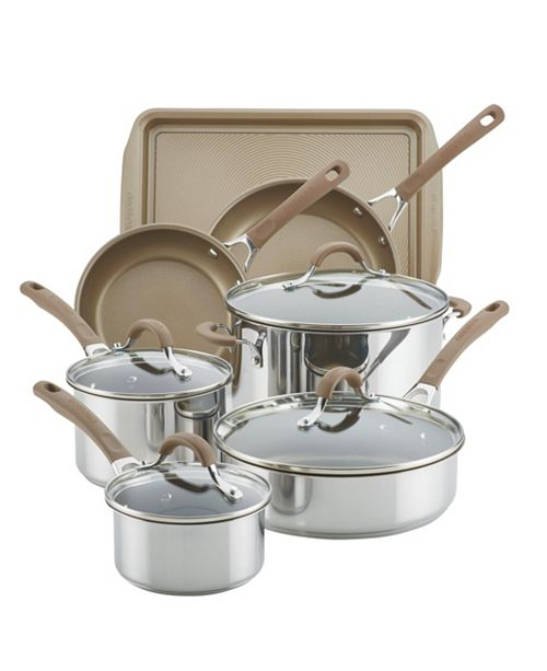 Circulon Innovatum Stainless Steel Nonstick 10-Pc. Cookware Set with bonus Cookie Sheet