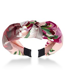 INC Floral-Print Knotted Headband, Created for Macy's