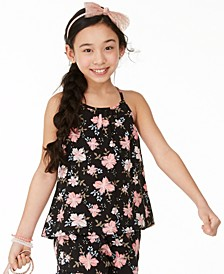 Big Girls Floral-Print Challis Top, Created For Macy's