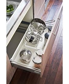 Tower Adjustable Pot Lid Frying Pan Organizer