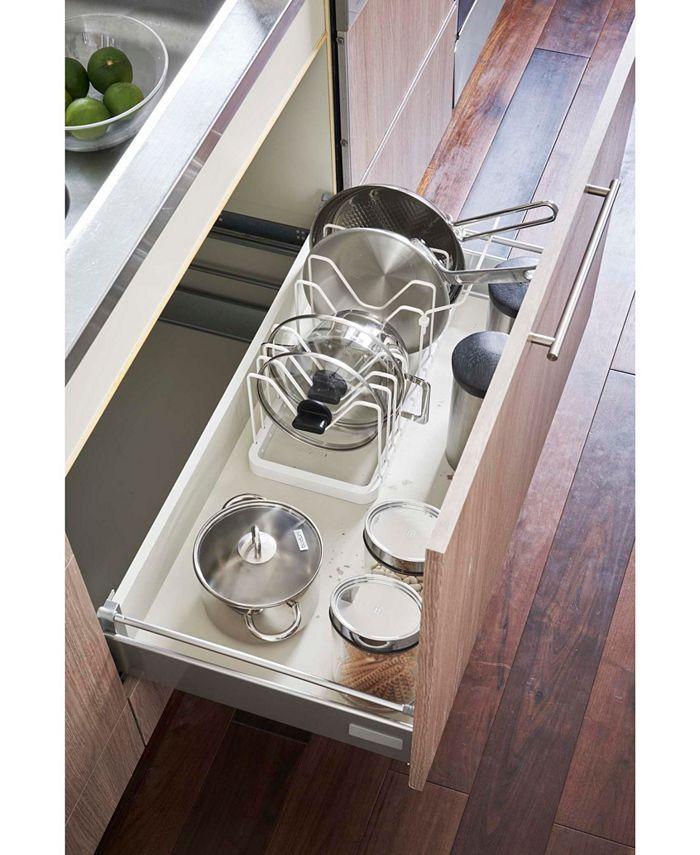 Yamazaki - Tower Adjustable Pot Lid Frying Pan Organizer