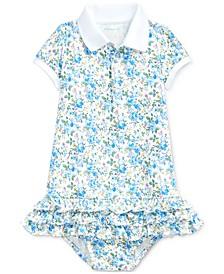 폴로 랄프로렌 여아용 원피스 Polo Ralph Lauren Baby Girls Ruffled Polo Dress & Bloomer,Multi Floral