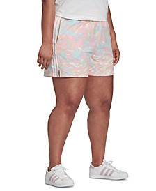 Plus-Size Tie-Dyed Shorts