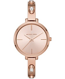 Women's Jaryn Rose Gold-Tone Stainless Steel Bangle Bracelet Watch 36mm