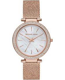 Women's Darci Rose Gold-Tone Stainless Steel Mesh Bracelet Watch 39mm