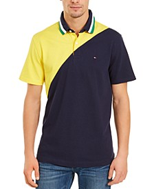 Men's Seaport Custom-Fit Colorblocked Logo-Print Polo Shirt