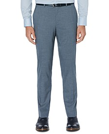 Men's Portfolio Slim-Fit Stretch Subtle Windowpane Dress Pants