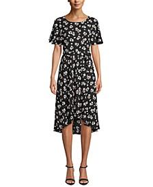 Split-Sleeve A-Line Dress