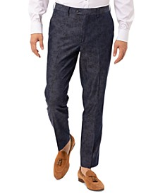 Men's Slim-Fit Navy Paisley Suit Separate Pants