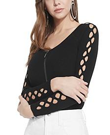 Tinash Ribbed Arm-Cutout Top
