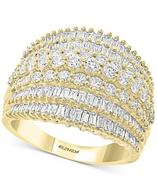 EFFY® Diamond Baguette Multi-Row Statement Ring (1-7/8 ct. t.w.) in 14k Gold