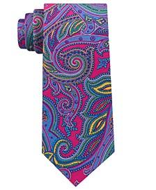Men's Pop Paisley Print Silk Tie