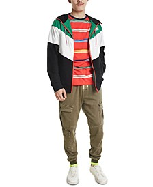 Men's Colorblocked Hooded Jacket