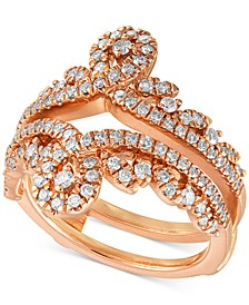 Diamond Swirled Tiara Enhancer Ring (3/4 ct. t.w.) in 14k Rose Gold