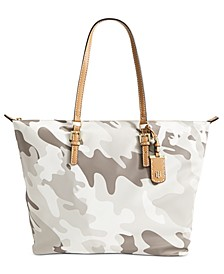 Julia Camo Zippered Tote