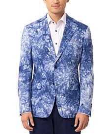 Men's Slim-Fit Verdella Blue & White Sport Coat