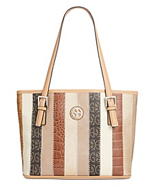 Patchwork Stripe Tote, Created for Macy's