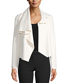 Asymmetrical Front-Clasp Jacket