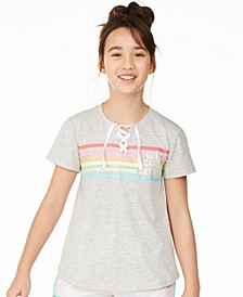 Big Girls Lace-Up Shirt, Created for Macy's