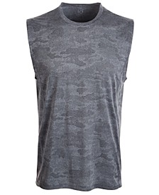 Men's Jacquard Camo Tank Top, Created for Macy's