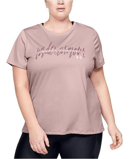Under Armour Plus Size Tech™ Branded T-Shirt
