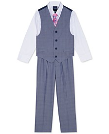 Little Boys 4-Pc. Glen Plaid Vest Set