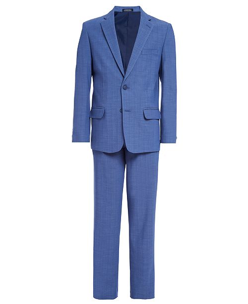 Nautica Big Boys 2-Pc. Blue Crosshatch Suit Set