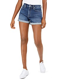 Relaxed Cuffed Denim Shorts