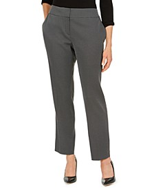 Petite Pin-Dot Trouser Pants