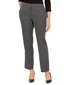 Petite Ankle Pin-Dot Trouser Pants